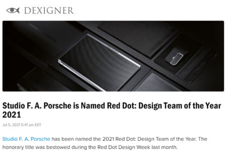 Dexigner, Red Dot Design Team of the Year 2021