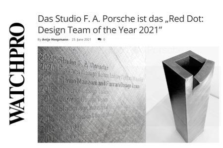 """Das Studio F. A. Porsche ist das """"Red Dot: Design Team of the Year 2021"""""""